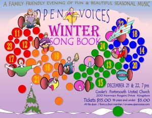Winter songbook poster