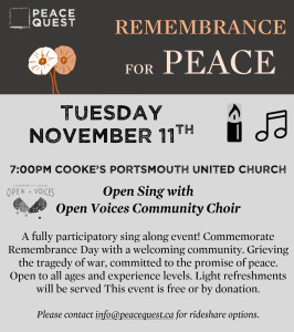 OV poster - remembrance for Peace